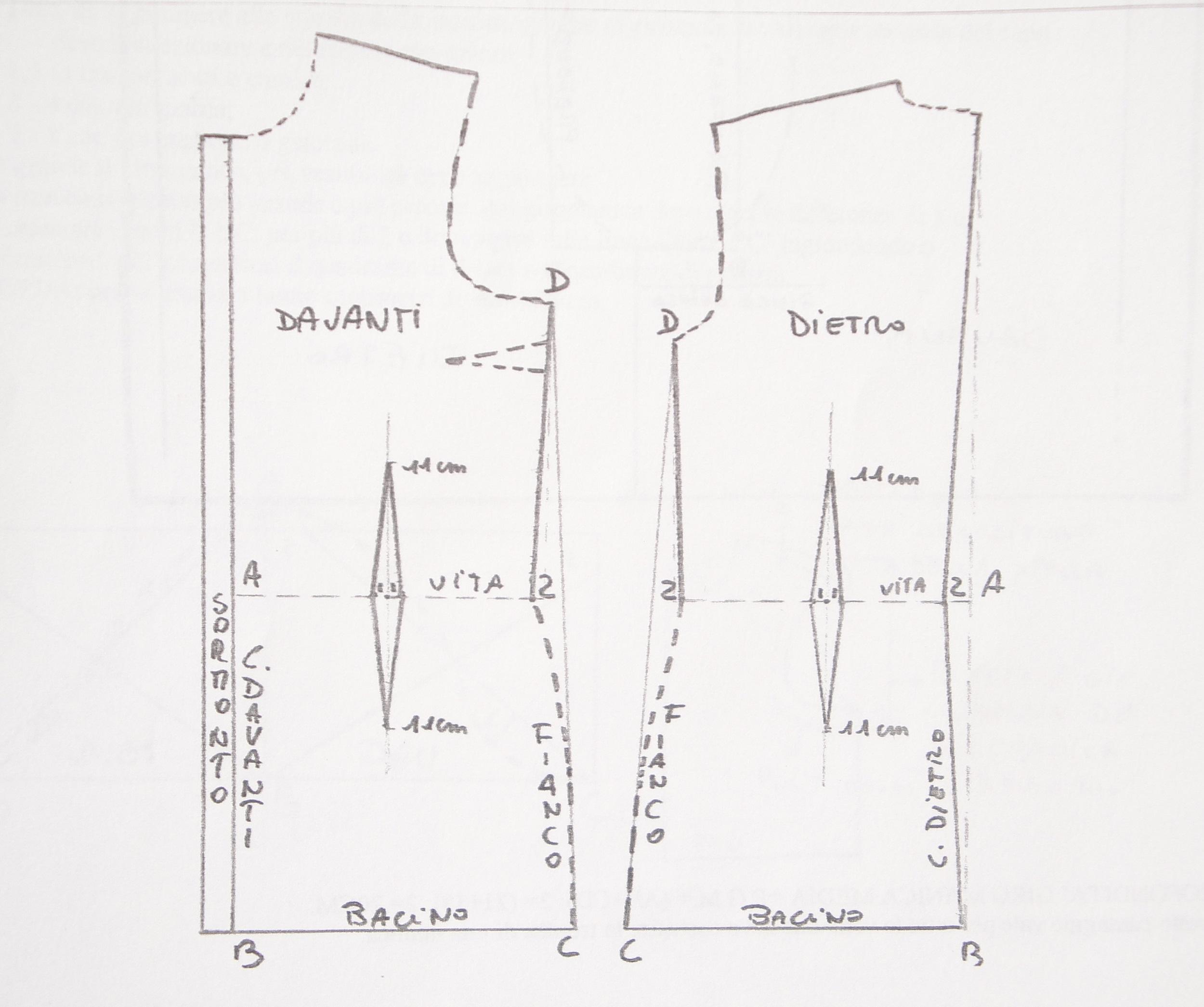 new product 97640 e30b6 Cartamodello base camicia | www.modart.biz - Tutorial ...